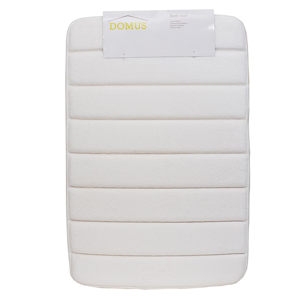 Domus Coral Fleece Memory Foam Bath Mat: 60x40cm 1