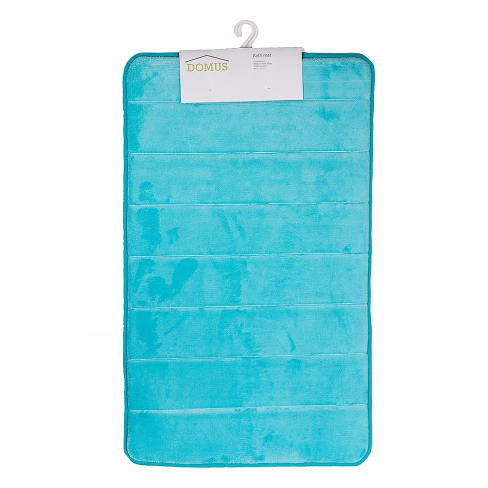 Domus Coral Fleece Memory Foam Bath Mat: 80x50cm 1