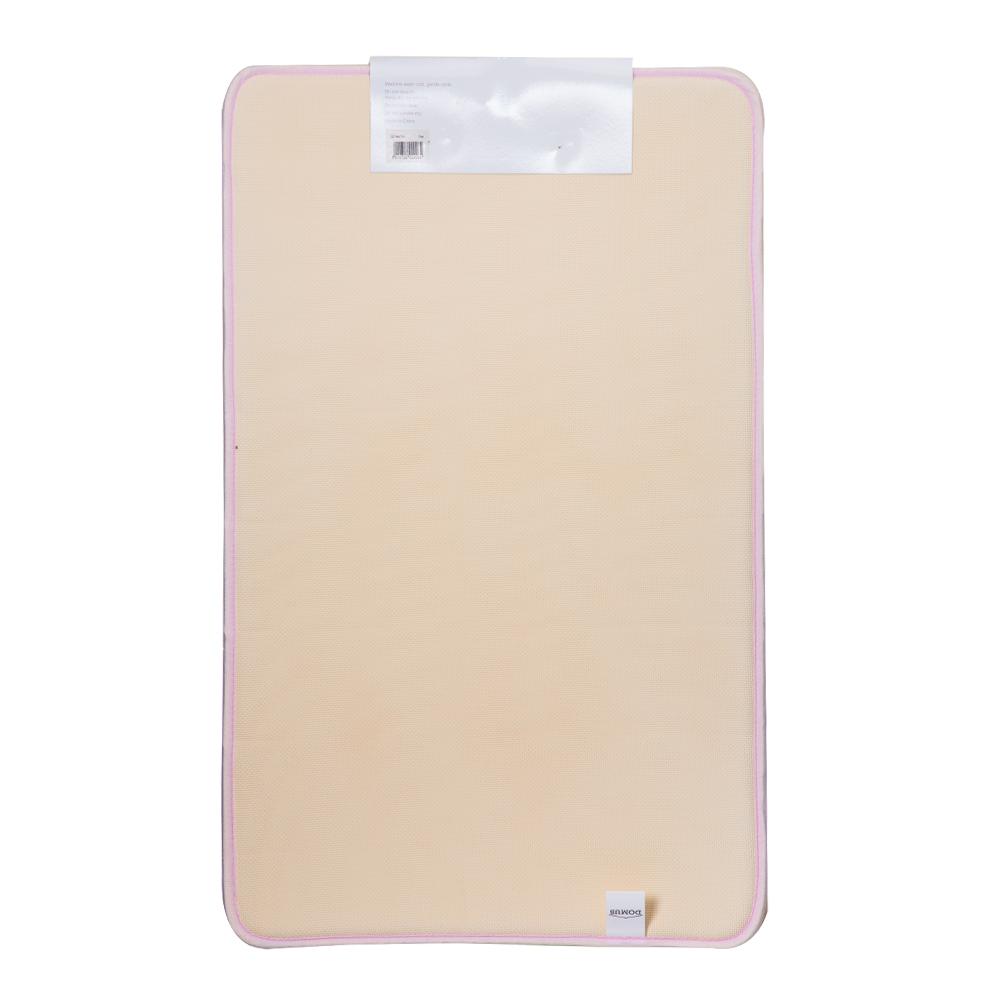 Domus Coral Fleece Memory Foam Bath Mat: 80x50cm