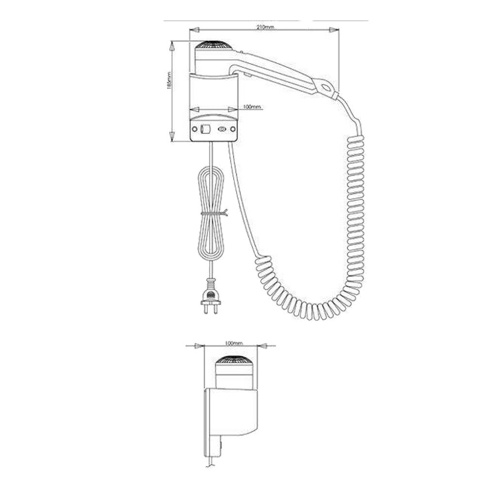 Mediclinics: Hair Dryer : 1200W White ABS #SC0020