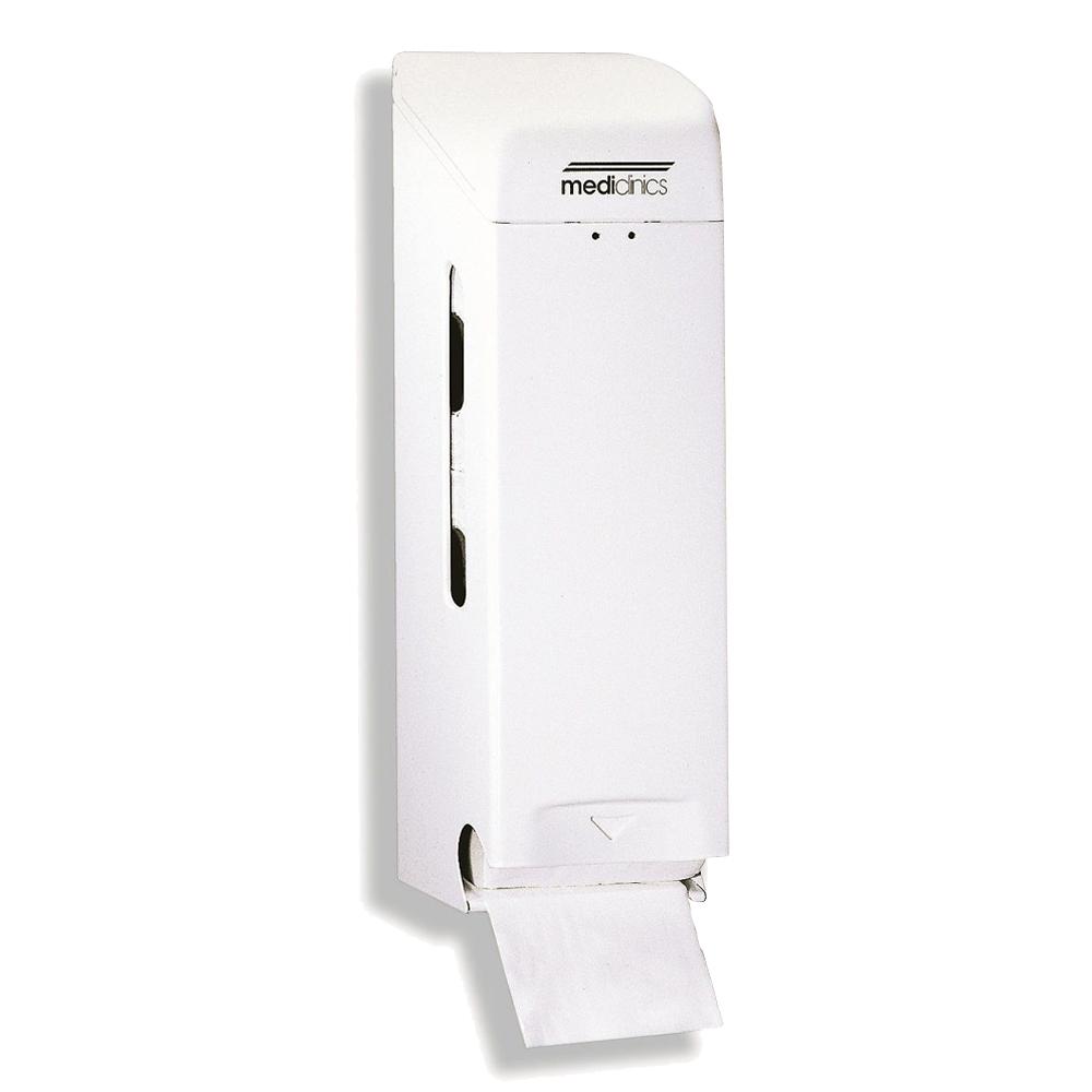 Mediclinics: 3 Toilet Roll Dispenser: White Metal #PR0781 1