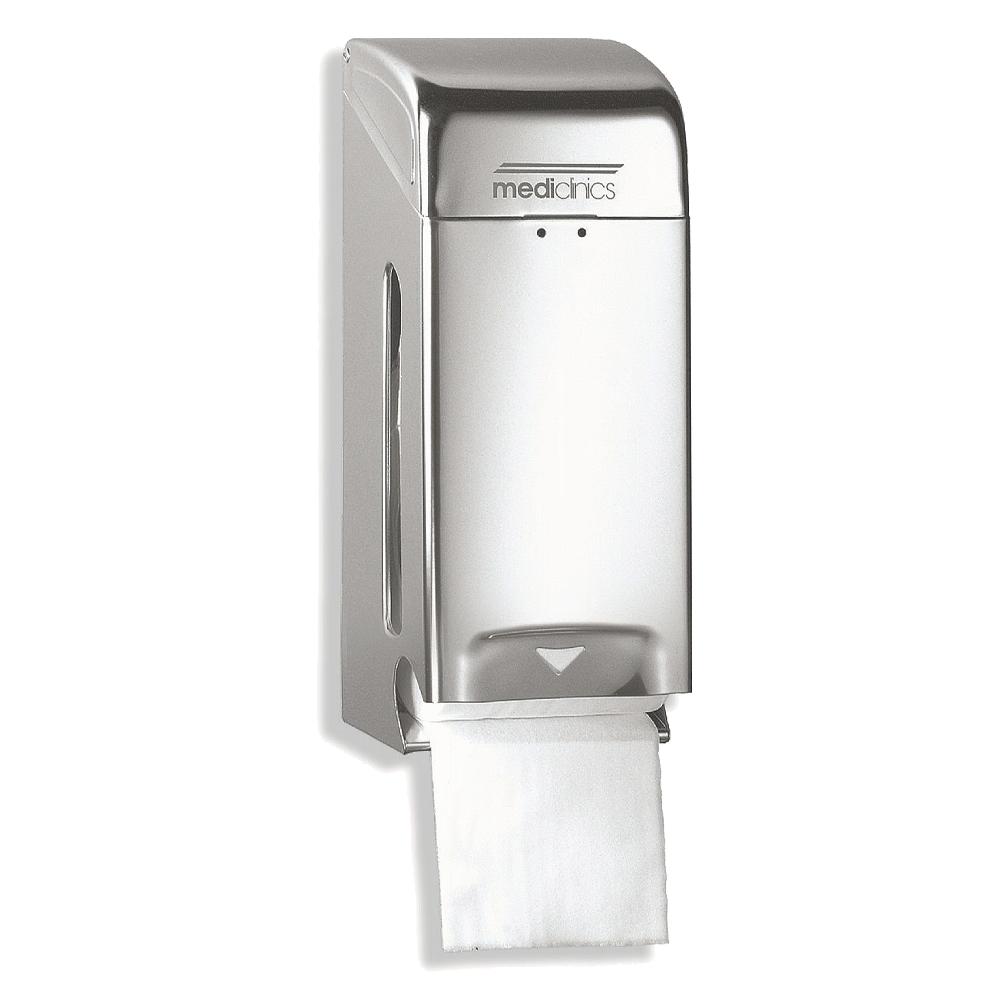 Mediclinics: Two Toilet Roll Dispenser: Satin S/S #PR0784CS 1