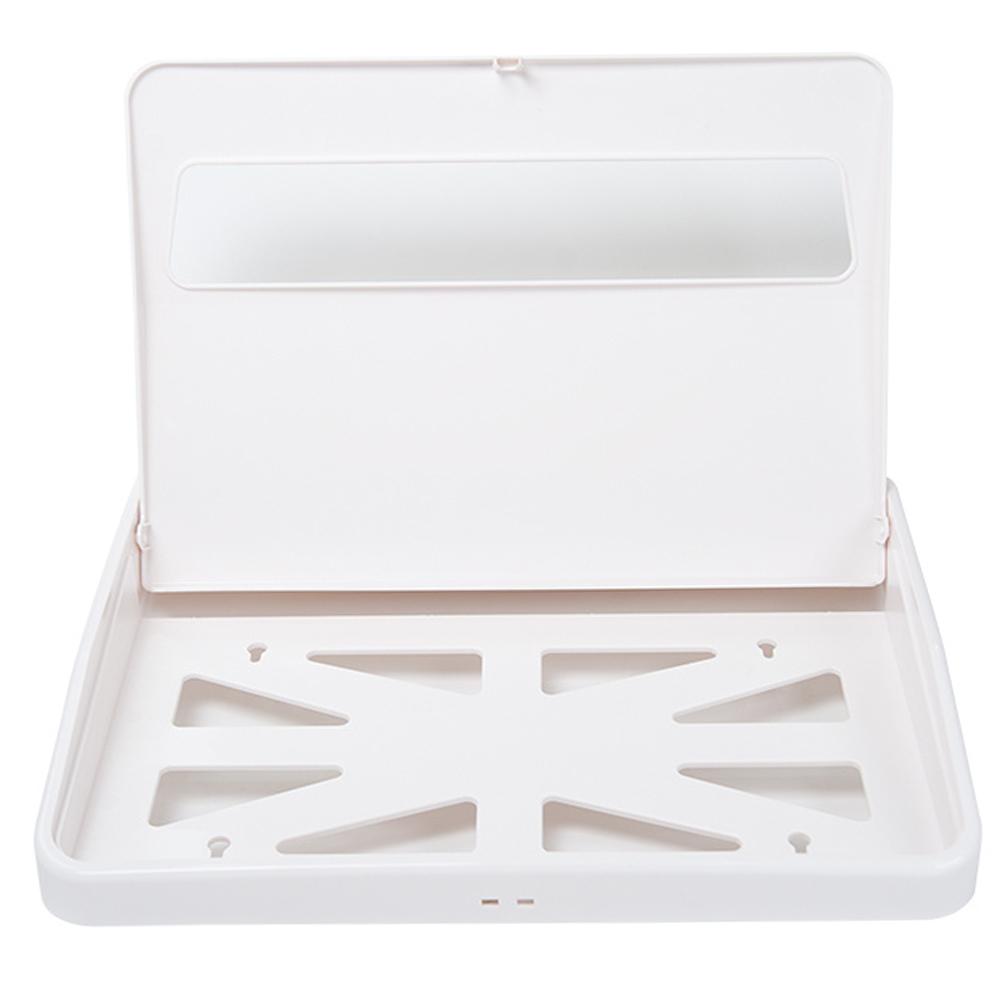 TAPIS: Toilet Seat Cover Paper Holder: White #V-781