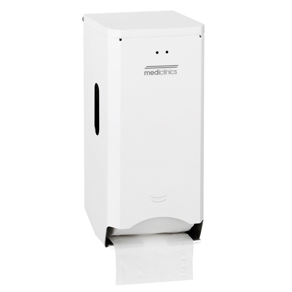 Mediclinics: Two Toilet Roll Dispenser: White Epoxy #PR2784 1