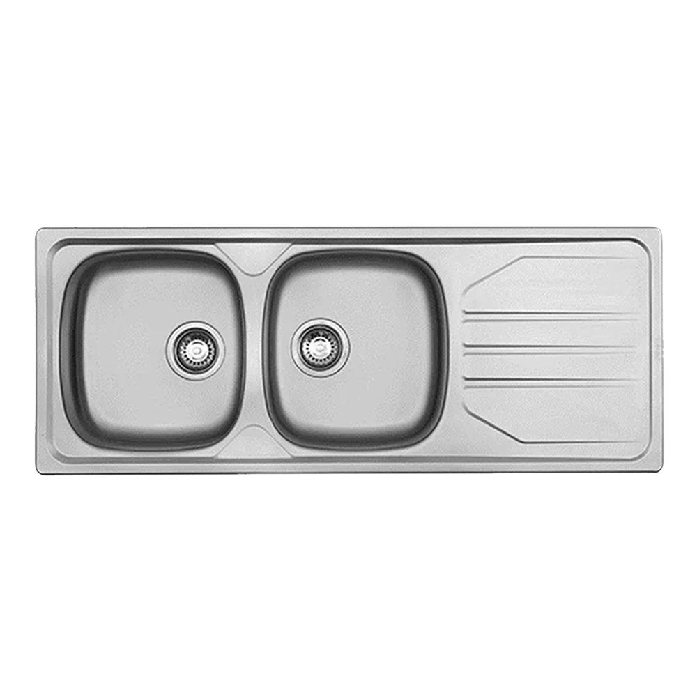 Franke: Nouveau: SS Kitchen Sink: DB/SD 116x46cm #NVN621 1