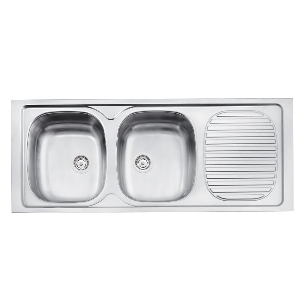 Tramontina: S/Steel Kitchen Sink: SB/DD,150x52cm,+Wst #93042507 1