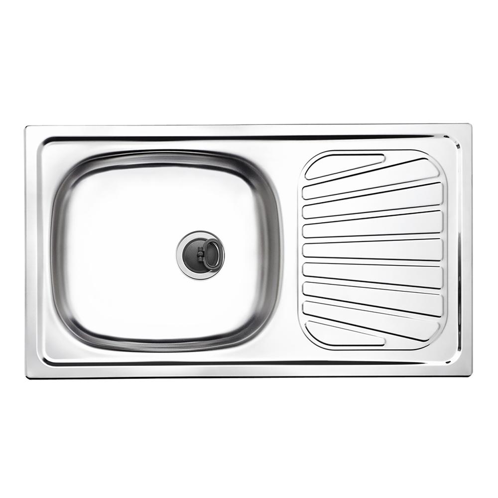 Tramontina: S/Steel Inset Kitchen Sink: SB/SD,78x43cm,+Wst #93840500 1