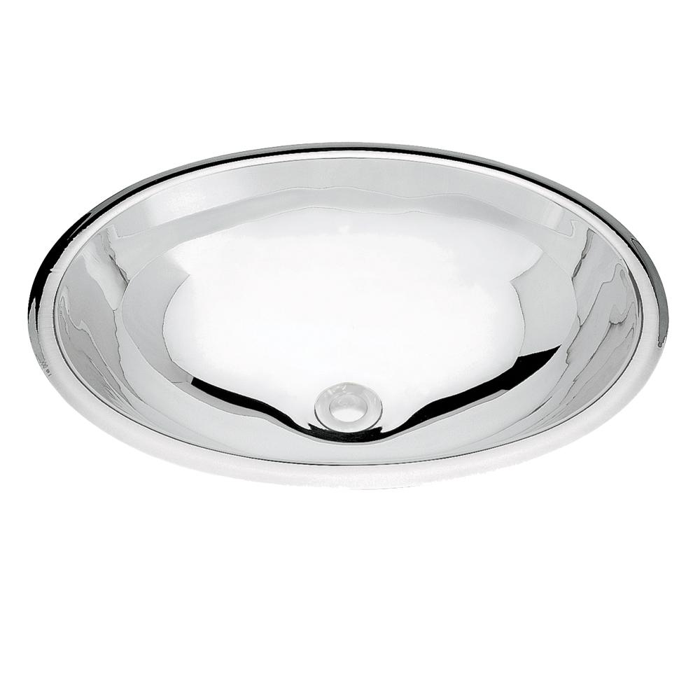 Tramontina: S/Steel Oval Washbasin : SB, 40cm Mirror Polished #94116207 1