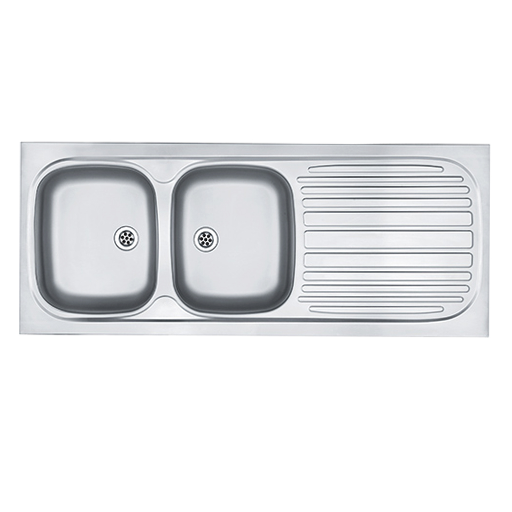 Franke: Trendline Lay On S/S Sink; DB/SD + Waste, 120×53
