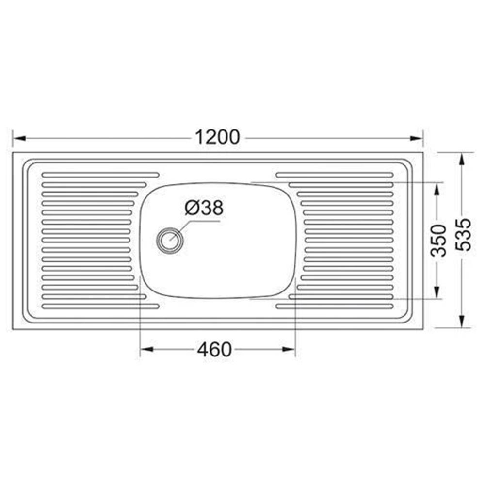 Franke: Trendline Lay On S/S Sink; SB/DD + Waste, 120x53.5cm #1030007/1120017