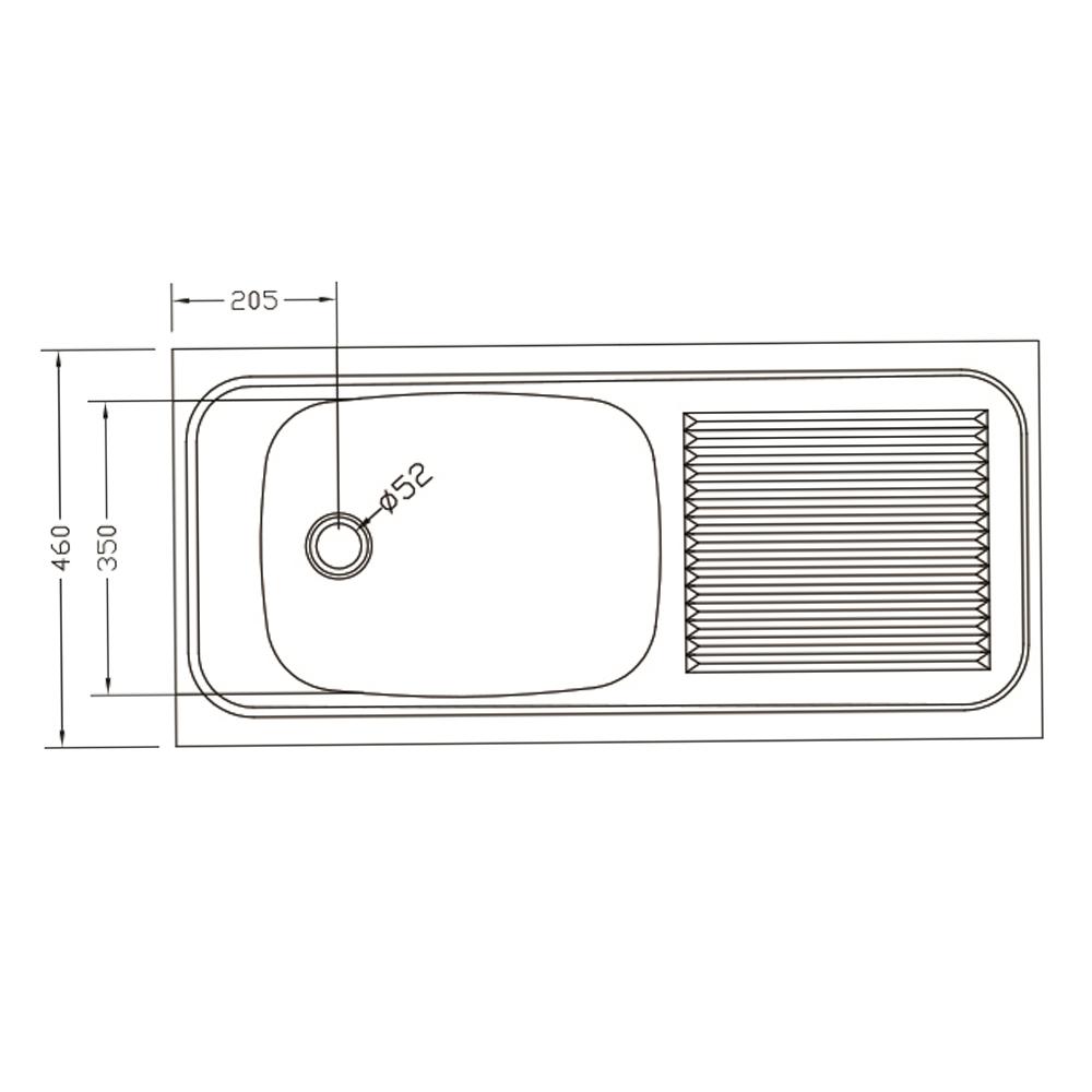 Franke: Trendline Lay On S/S Sink SEB; SB/SD + Waste, 100x46cm #1030005/1120017