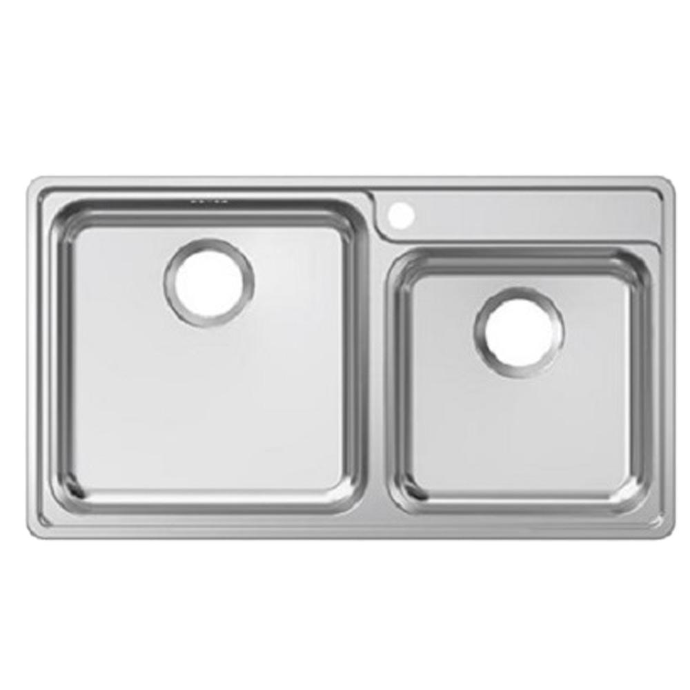Franke: Bell BCX 620-42-35 SS Inset Double Bowl Kitchen Sink + Waste Set; 48X79cm #1220027/1120129/132/092/073 1