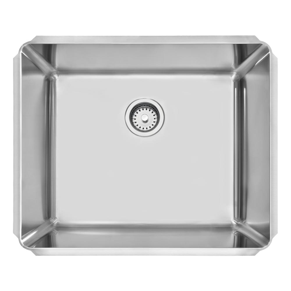 Tramontina: Dritta Pro S/Steel Built-In Wash Basin, Single Bowl, Scotch Brite 50x60cm #94094102 1