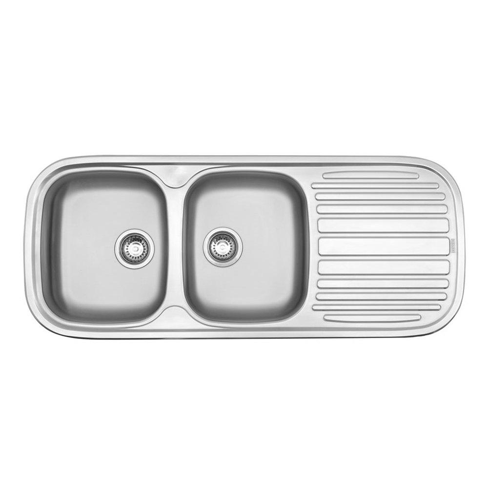 Franke: Quinline:SS Kitchen Sink With Waste: DB/SD 120x50cm#QLX621-120/1120001/1120135 1