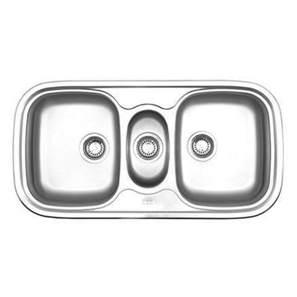 Franke: Quinline: SS Kitchen Sink With Waste; 2