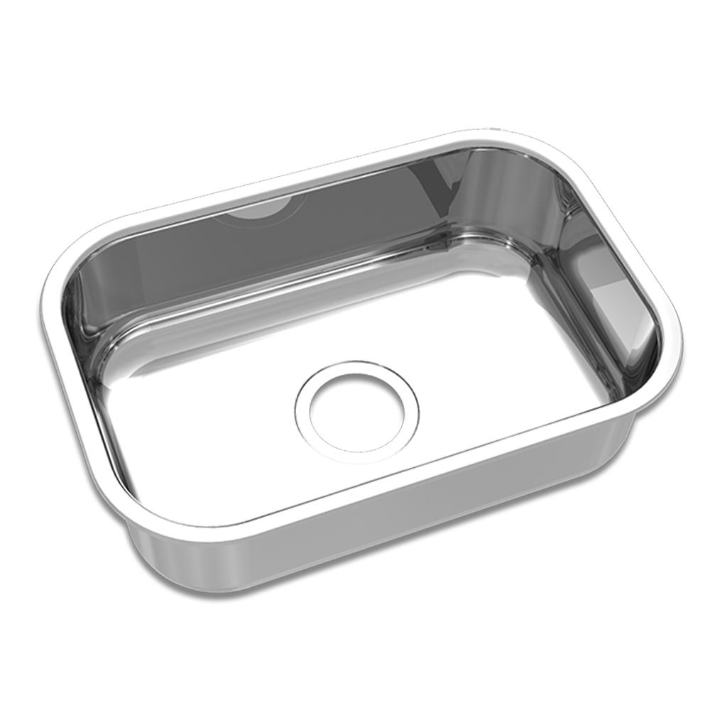 Mekal: S/Steel Inset Rectangle Kitchen Sink: Single Bowl, 46 1