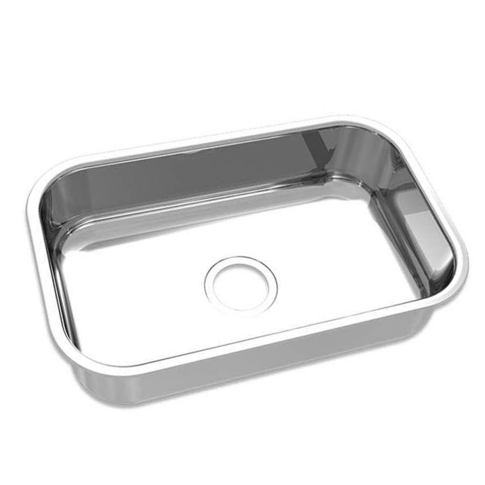 Mekal: S/Steel Inset Rectangle Kitchen Sink: Single Bowl, 56 1