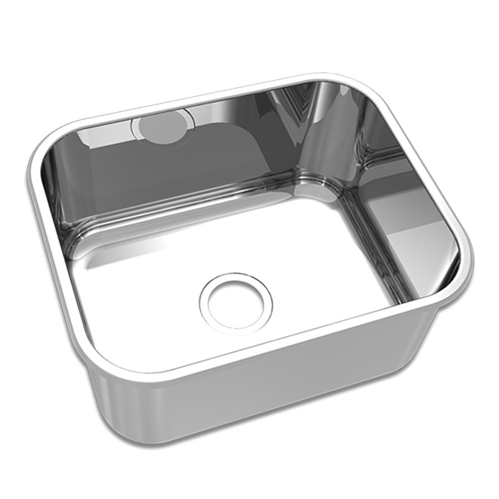 Mekal: S/Steel Inset Rectangle Kitchen Sink: Single Bowl, 50 1
