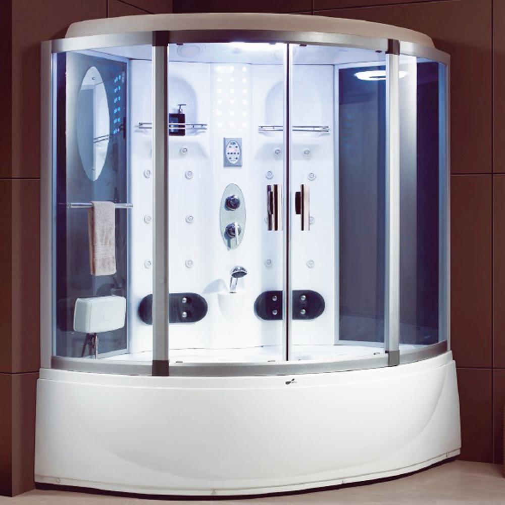 NTH: Steam Room+ Jacuzzi Bathtub+ Computer& Remote Control+ Radio+ Phone+ Fan+ Foot Massage; 152x152x220cm #MY-2259
