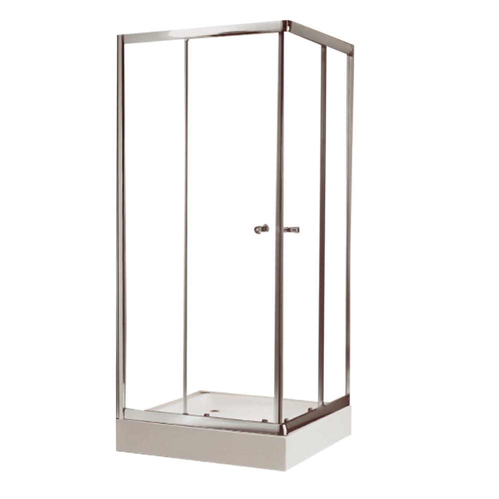 NTH: Square Shower Cubicle & Tray: 90x90x200cm #MY-4037BK 1