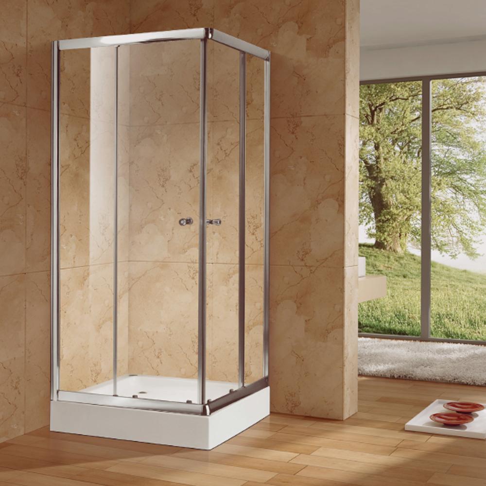 NTH: Square Shower Cubicle & Tray: 90x90x200cm #MY-4037BK