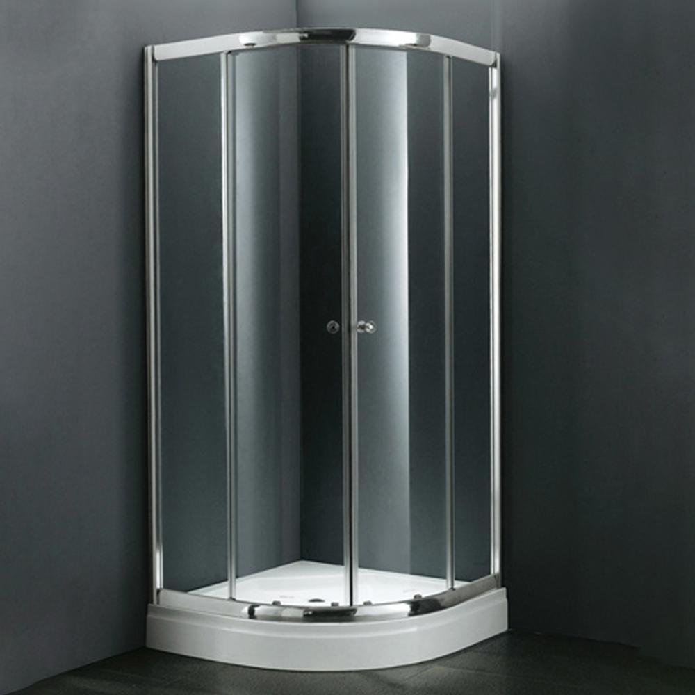 NTH: Quadrant Shower Cubicle & Tray: 90x90x200cm #MY-4038BK