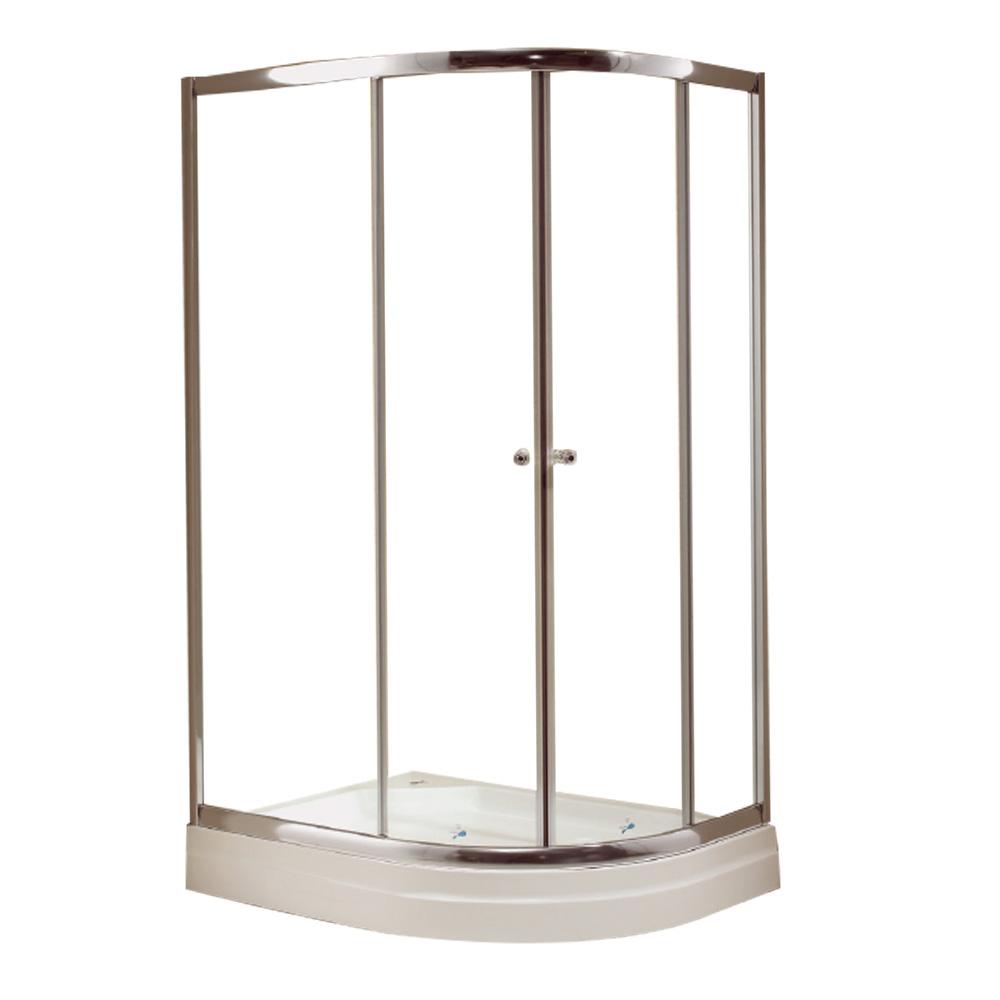 NTH: Rectangular Shower Cubicle & Tray: 90x120x200cm #MY-4039BK 1