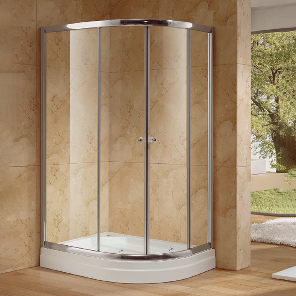 NTH: Rectangular Shower Cubicle & Tray: 90x120x200cm #MY-4039BK