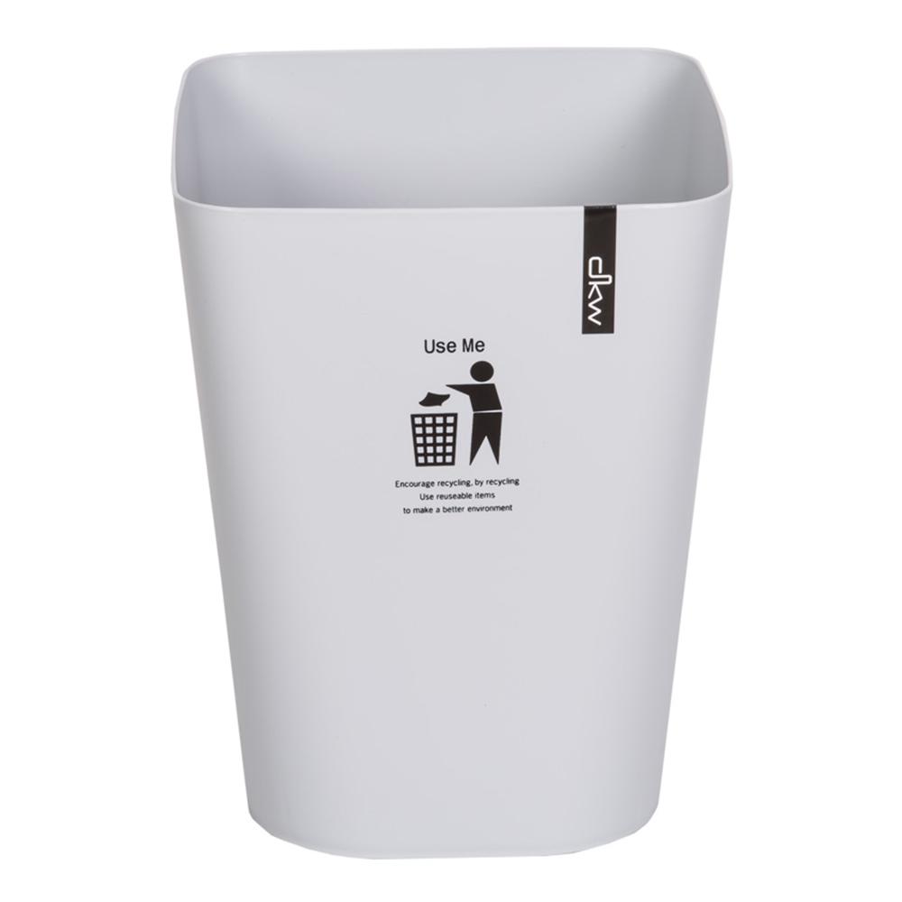 DKW: Square Printed Waste Bin; 11Lts #HH-224P