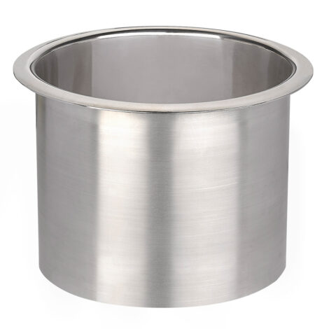 Stainless Steel Counter Top Receptacle Waste Bin: Bright 1