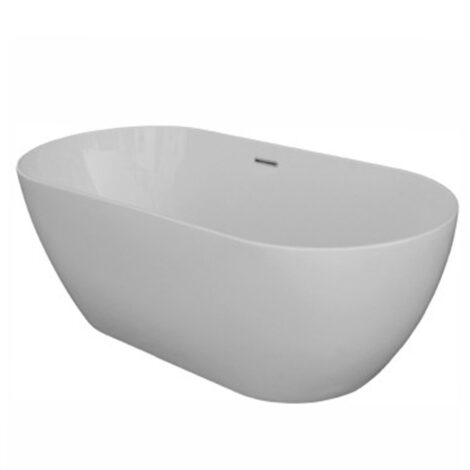 Trento: Freestanding Bath Tub: (168x80)cm, White