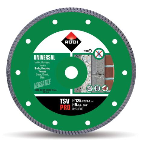 Rubi: Diamant Diamond Disc: TSV 125mm, 5inch 1
