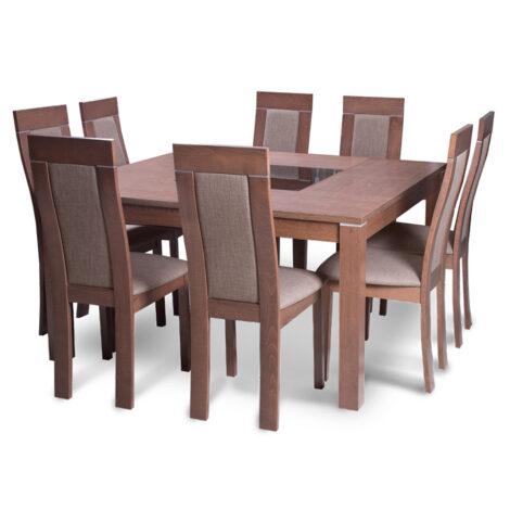 Dining Table +8 Side Chairs, MerlotBeech/Golden Honey 1