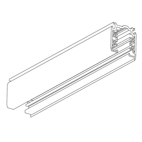 Global-Nordic Aluminium: XTS-4200-3 Lighting Track, 2 Meter Length, White