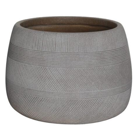 Fibre Clay Pot: Small (42x42x29)cm, Taupe 1