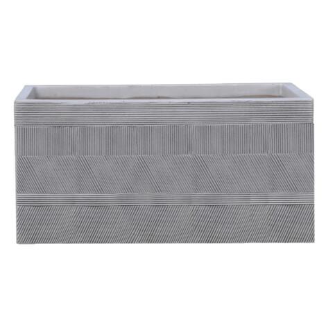 Fibre Clay Pot: Large (80x37x37)cm, Anti White 1