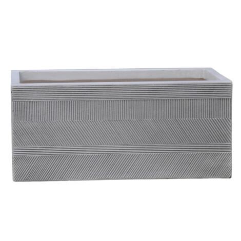 Fibre Clay Pot: Small (60x30x30)cm, Anti White 1