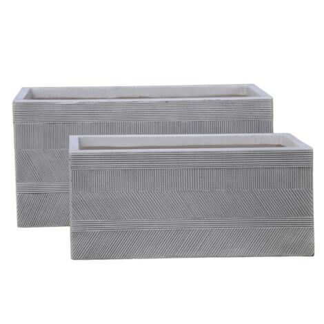 Fibre Clay Pot: Small (60x30x30)cm, Anti White