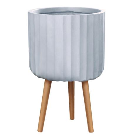 Fibre Clay Pot: Large (36x36x58)cm, Anti White 1
