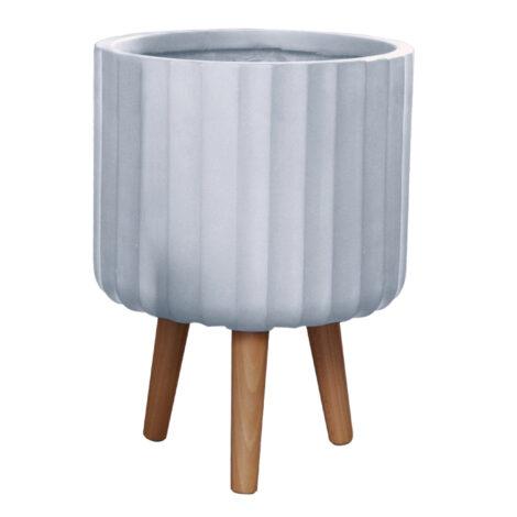 Fibre Clay Pot: Medium (30x30x41)cm, Anti White 1