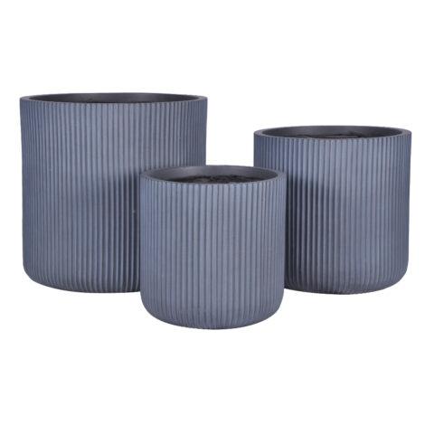 Fibre Clay Pot: Small (30.5x30.5x30)cm, Grey