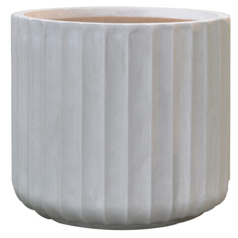 Fibre Clay Pot: Large (36x36x32)cm, Anti White 1