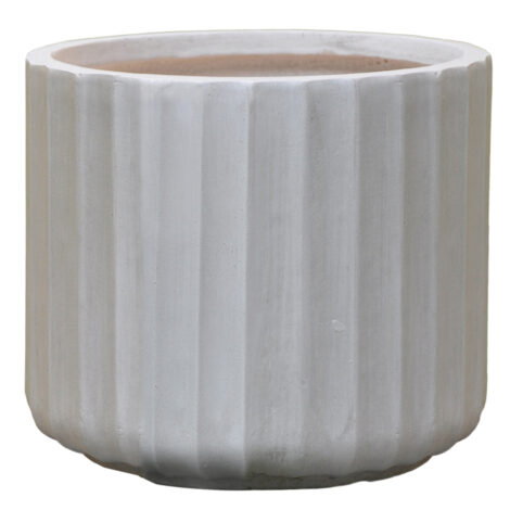 Fibre Clay Pot: Medium (30x30x26)cm, Anti White 1