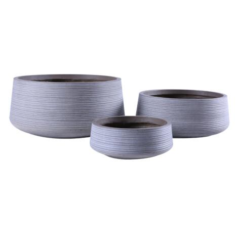 Fibre Clay Pot: Large (53x53x25)cm, Taupe