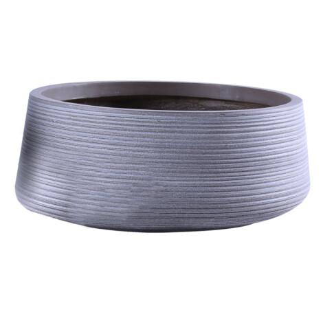 Fibre Clay Pot: Medium (43x43x18)cm, Taupe 1