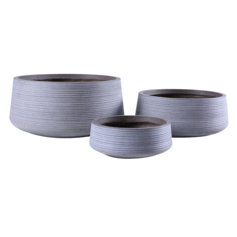 Fibre Clay Pot: Medium (43x43x18)cm, Taupe