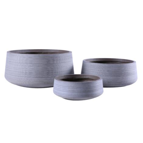 Fibre Clay Pot: Small (30.5x30.5x12)cm, Taupe