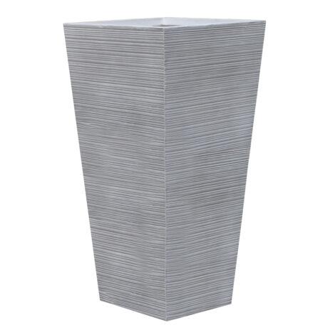 Fibre Clay Pot: Large (42x42x88)cm, Anti White 1