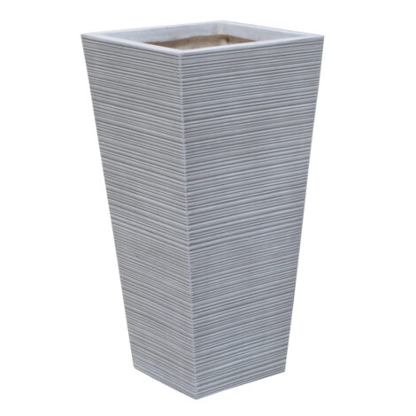 Fibre Clay Pot: Medium (32x32x65)cm, Anti White 1