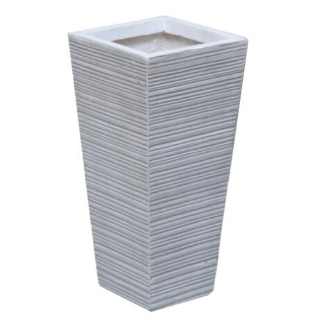 Fibre Clay Pot: Small (18x18x38)cm, Anti White 1